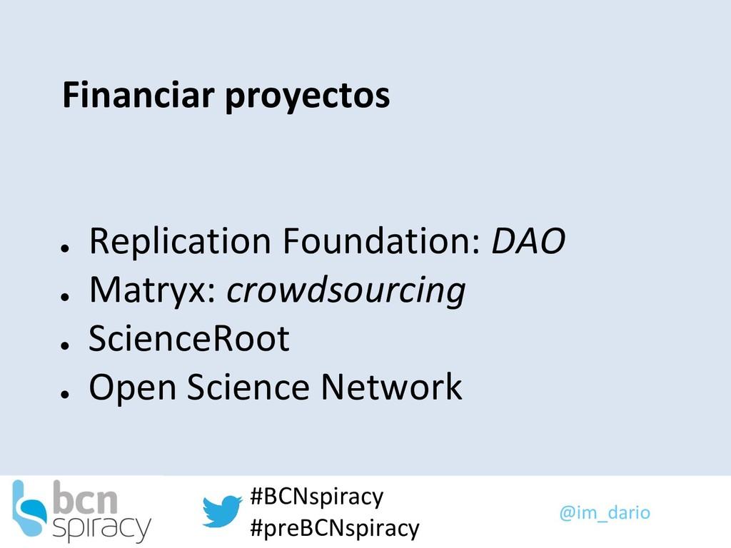 @im_dario #BCNspiracy #preBCNspiracy Financiar ...