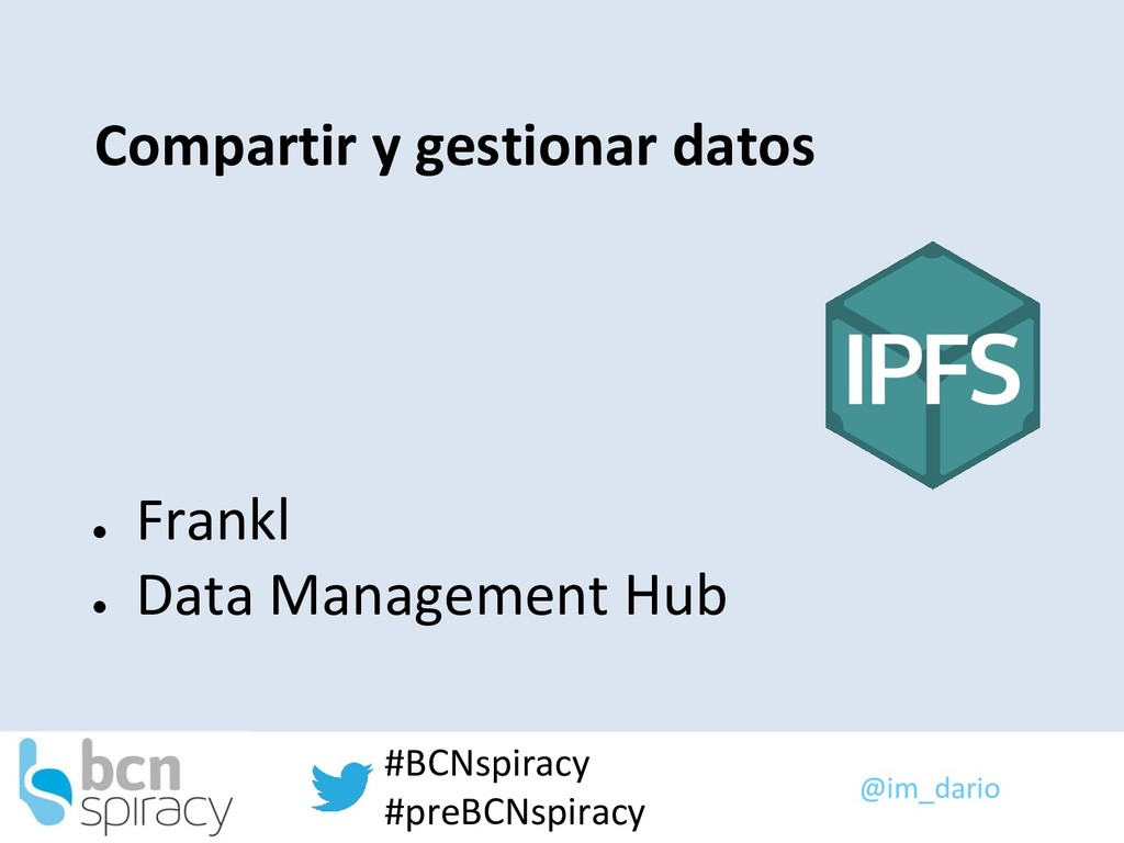 @im_dario #BCNspiracy #preBCNspiracy Compartir ...