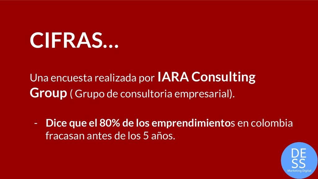 CIFRAS… Una encuesta realizada por IARA Consult...