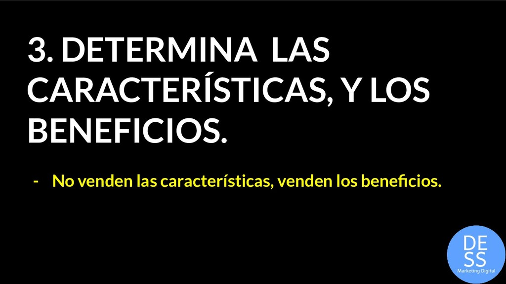 3. DETERMINA LAS CARACTERÍSTICAS, Y LOS BENEFIC...