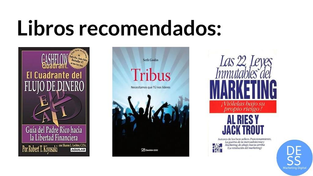 Libros recomendados: