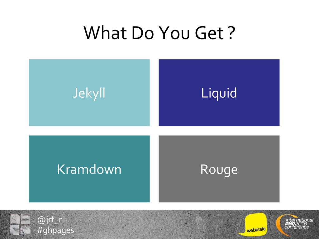 @jrf_nl #ghpages What Do You Get ? Rouge Kramdo...