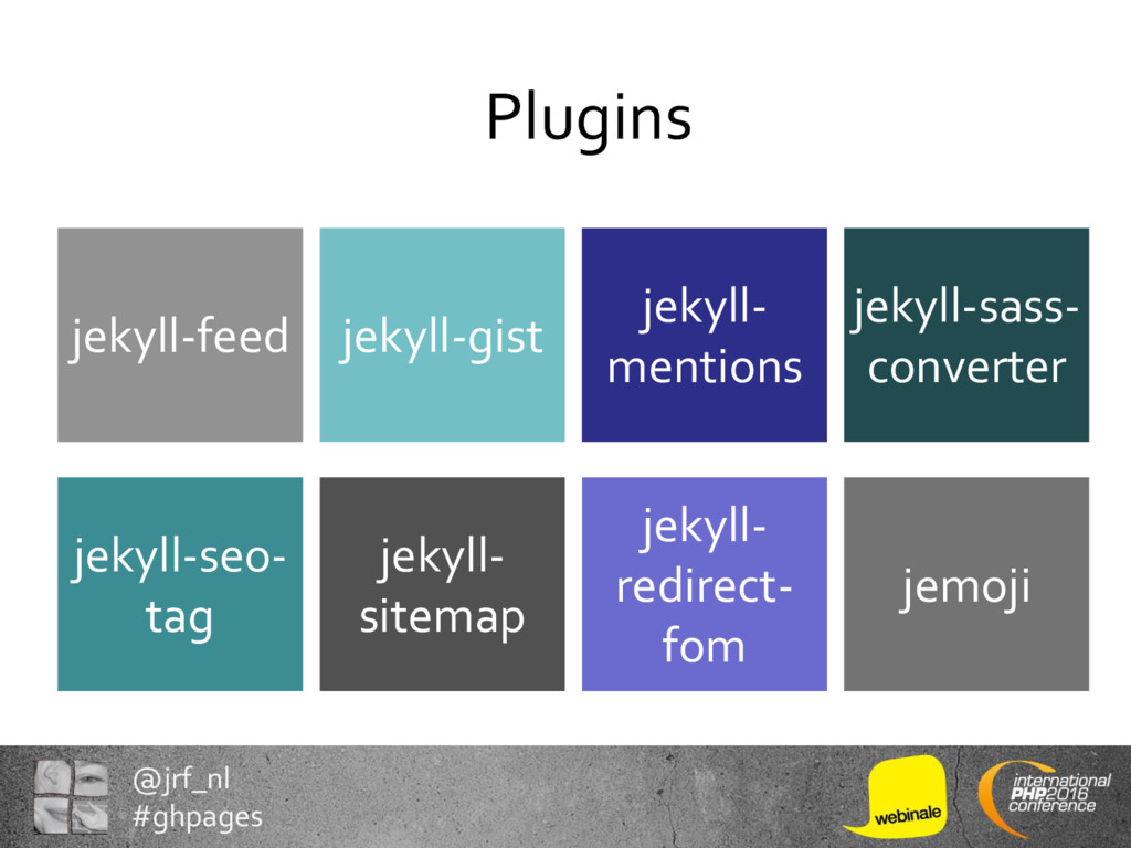 @jrf_nl #ghpages Plugins jekyll- redirect- fom ...