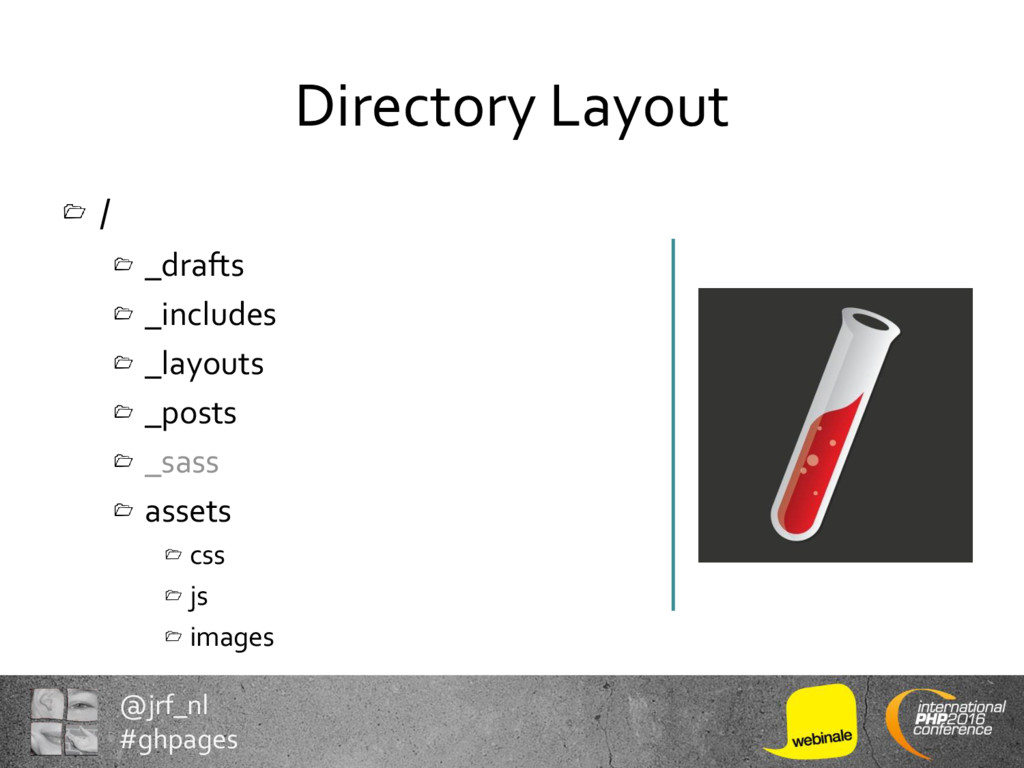 @jrf_nl #ghpages Directory Layout / _drafts _in...