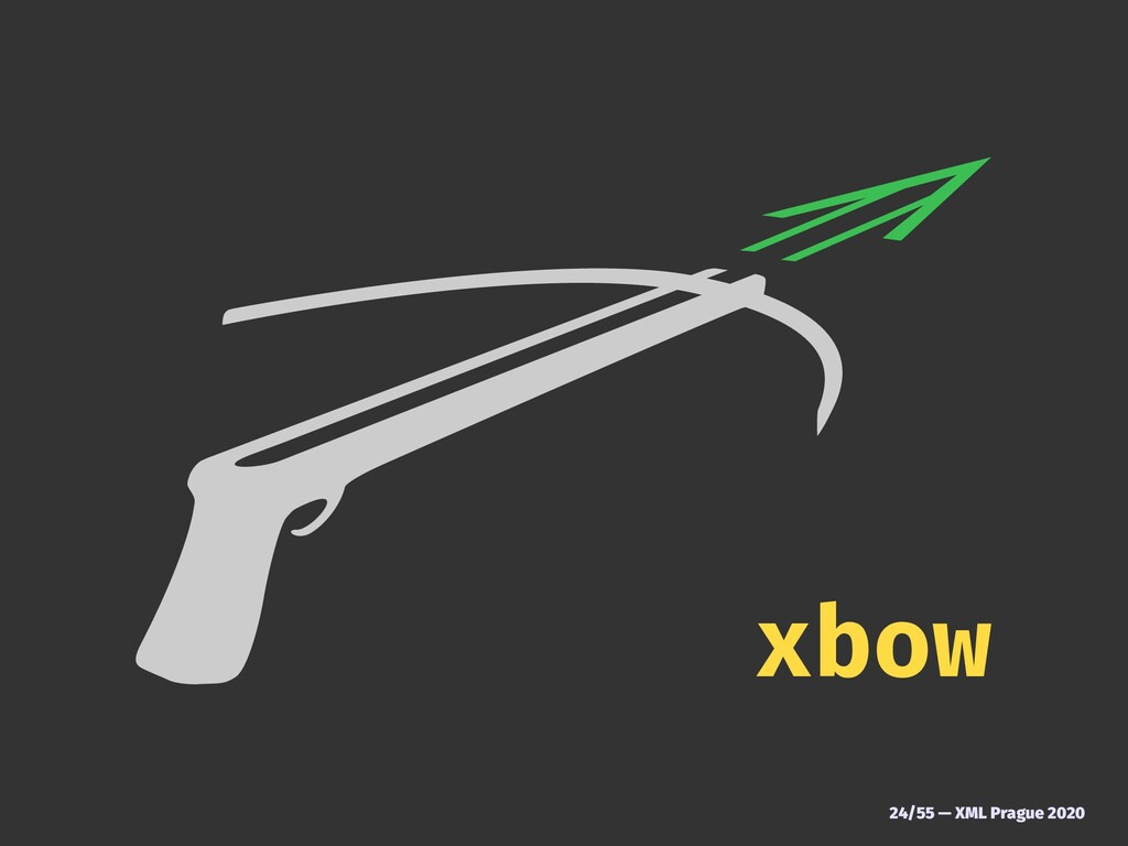 xbow 24/55 — XML Prague 2020