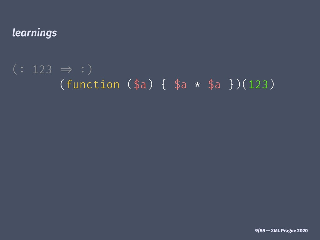 "learnings (: 123 ""# :) (function ($a) { $a * $a..."