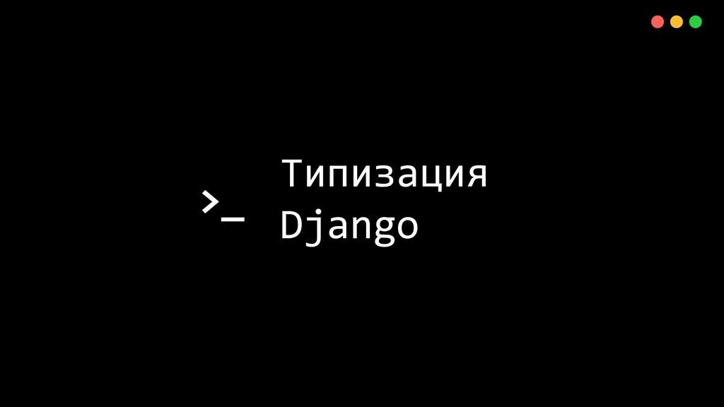>_ X Типизация Django