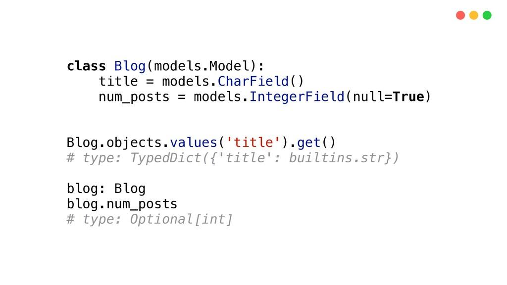 class Blog(models.Model): title = models.CharFi...