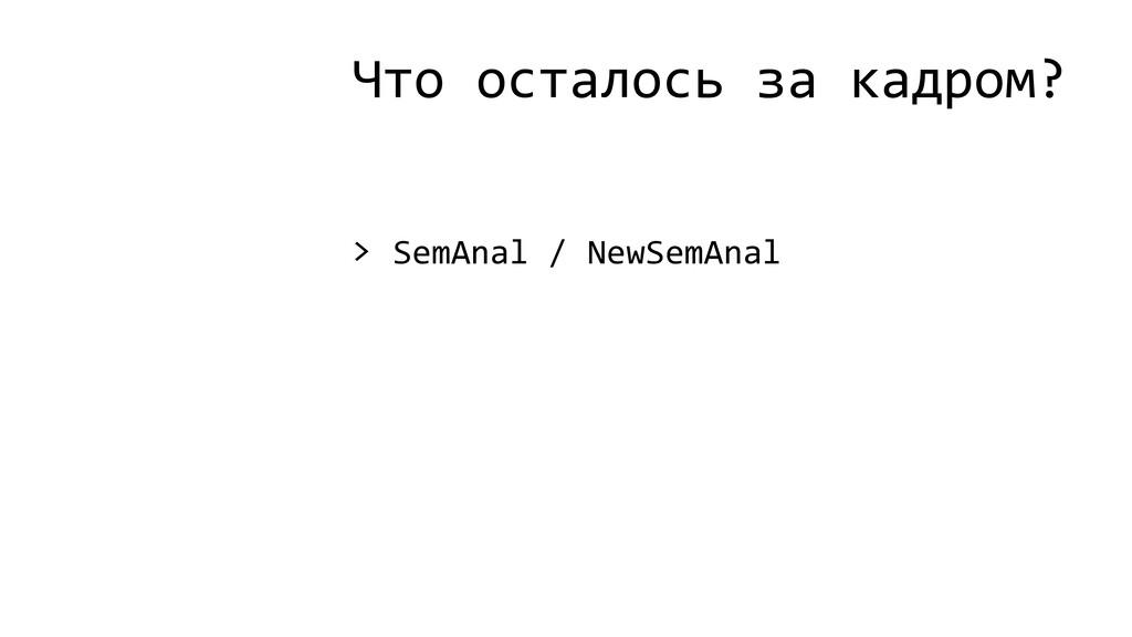 Что осталось за кадром? > SemAnal / NewSemAnal