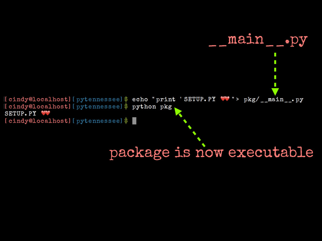 __main__.py package is now executable