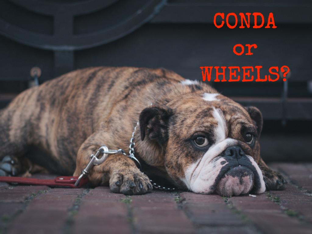 CONDA or WHEELS?