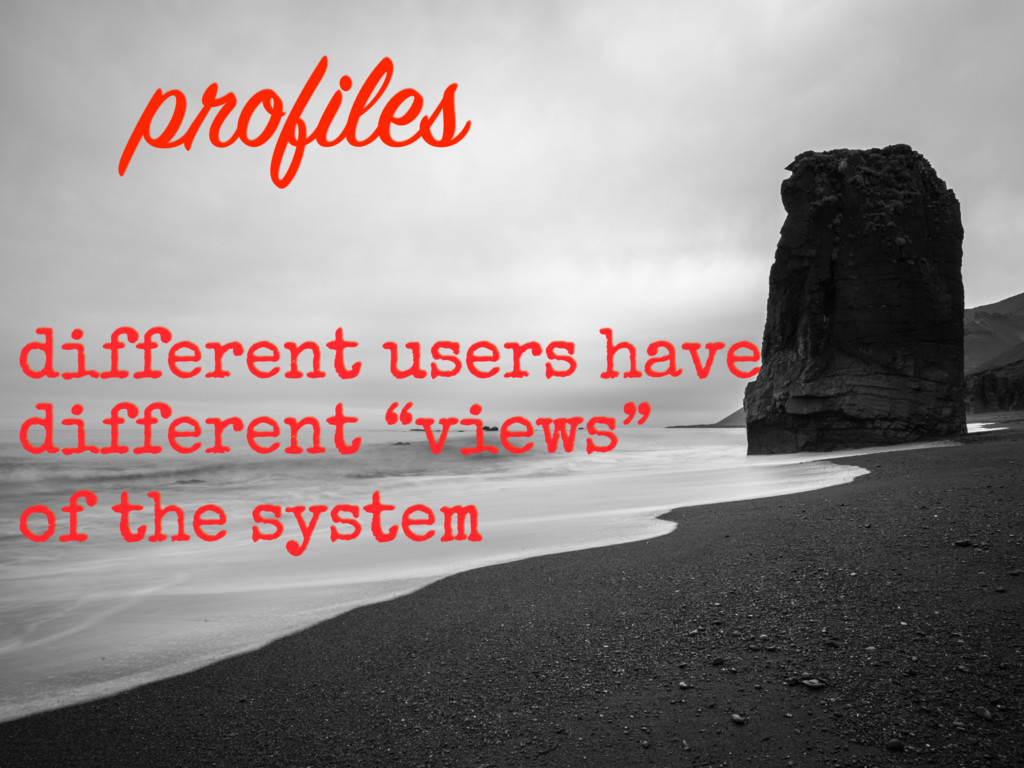 """different users have different """"views"""" of the s..."""