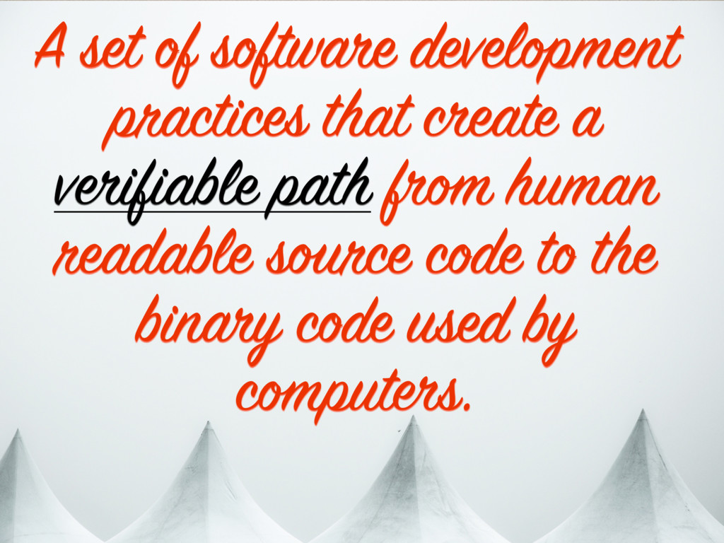 A set of software development practices that cr...