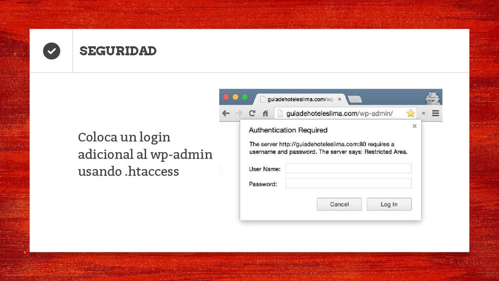 Coloca un login adicional al wp-admin usando .h...