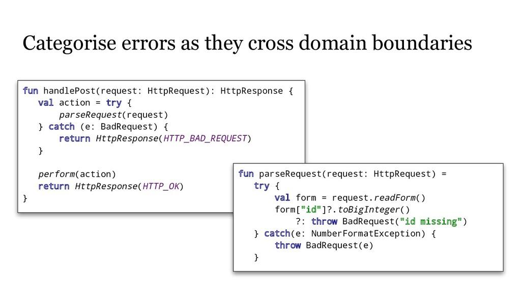 Categorise errors as they cross domain boundari...