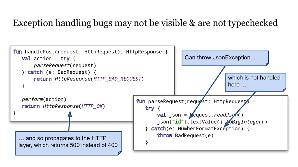 Exception handling bugs may not be visible & ar...