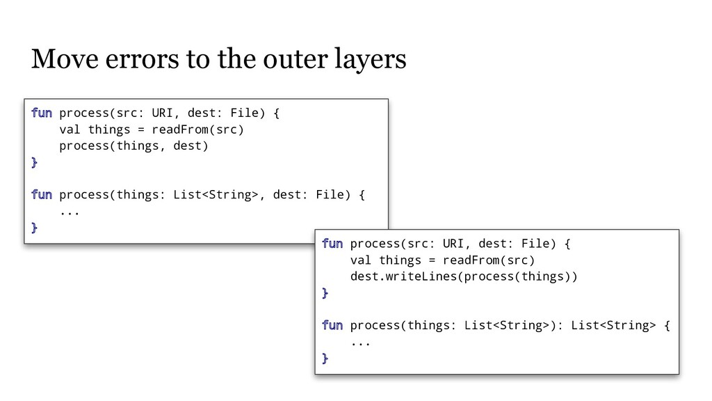Move errors to the outer layers fun process(src...
