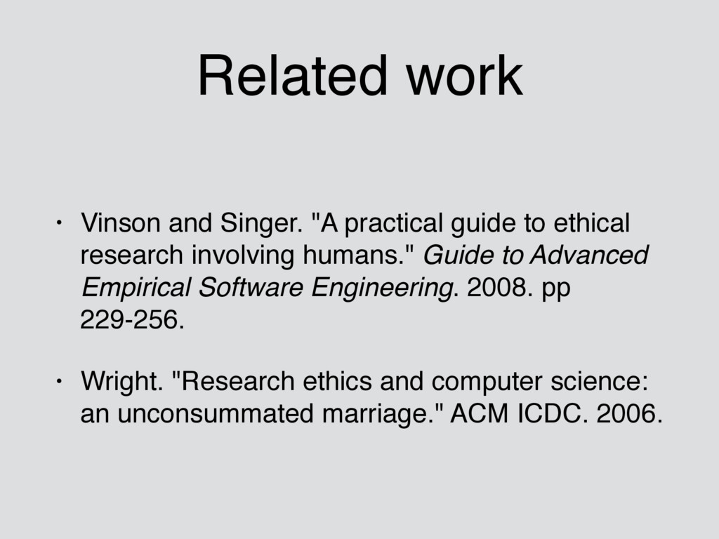 """Related work • Vinson and Singer. """"A practical ..."""