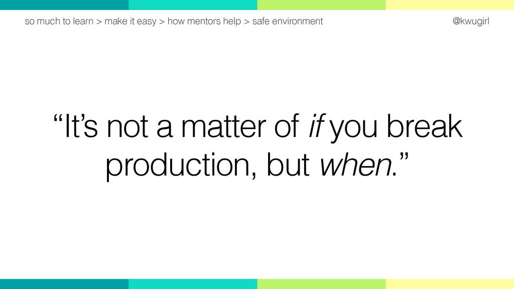 "@kwugirl ""It's not a matter of if you break pro..."