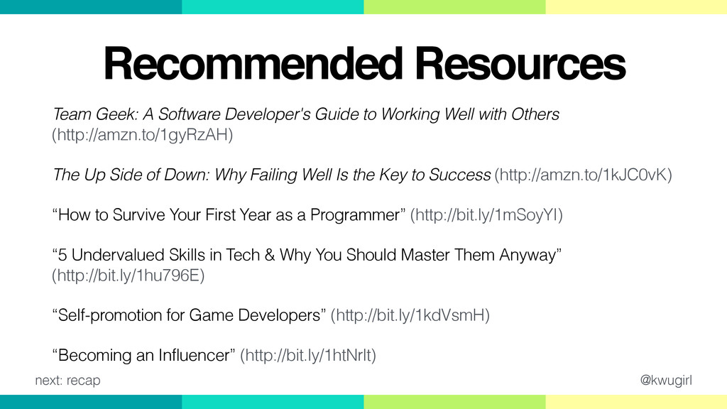 @kwugirl Recommended Resources Team Geek: A Sof...