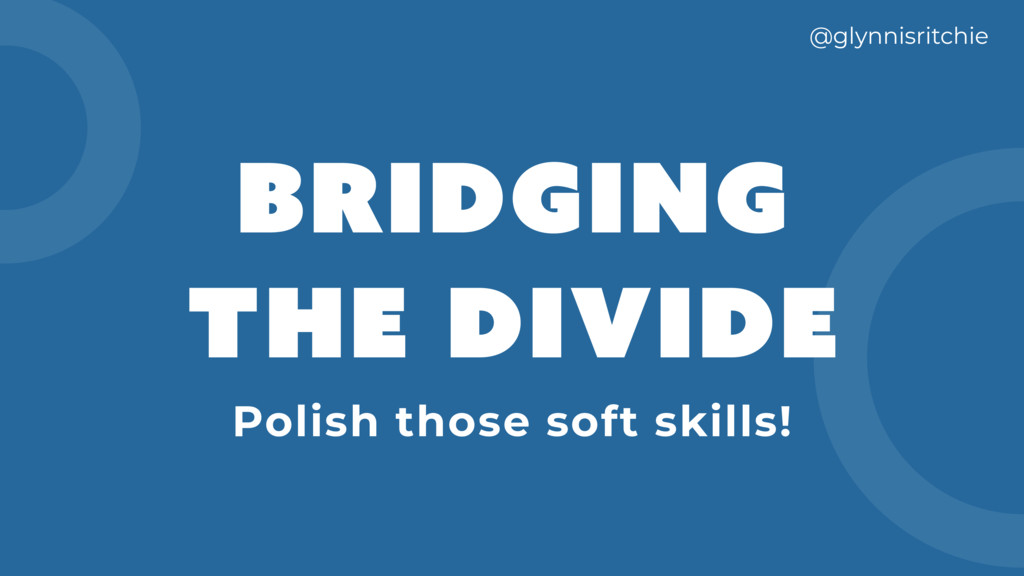 BRIDGING THE DIVIDE @glynnisritchie Polish thos...