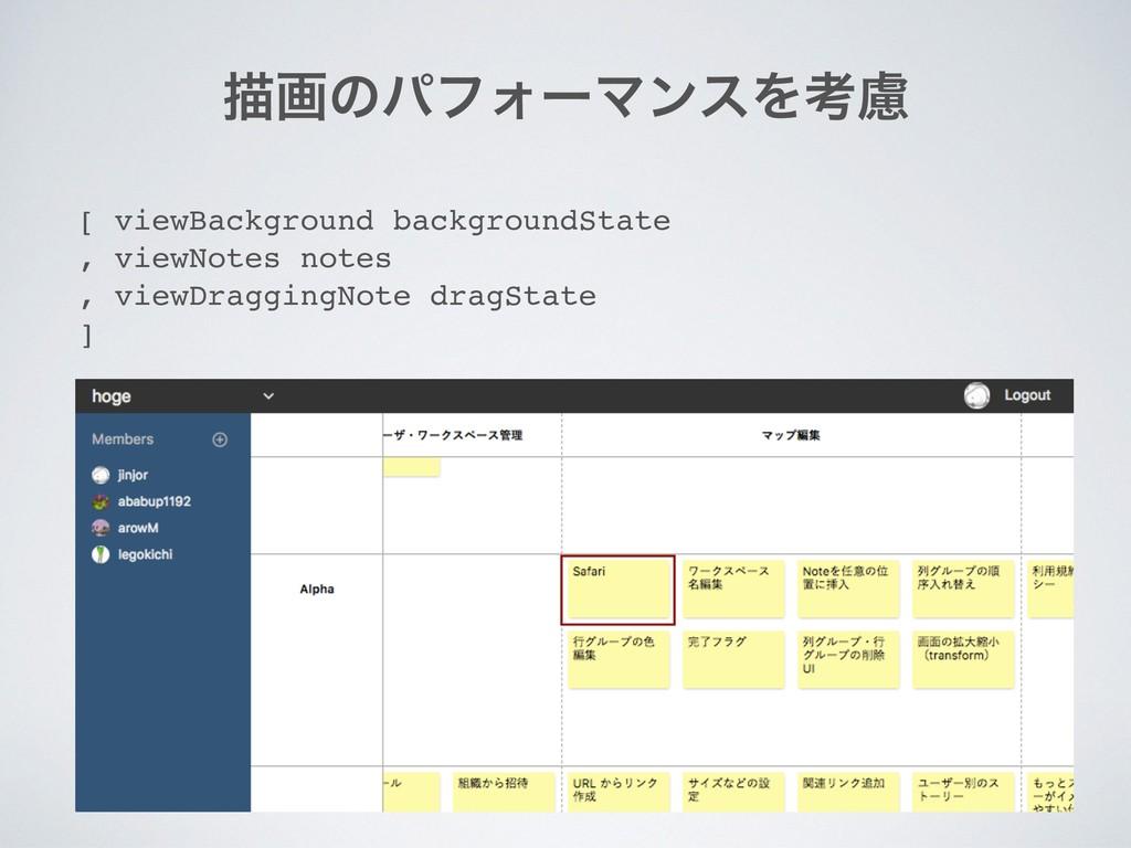 ඳըͷύϑΥʔϚϯεΛߟྀ [ viewBackground backgroundState ...