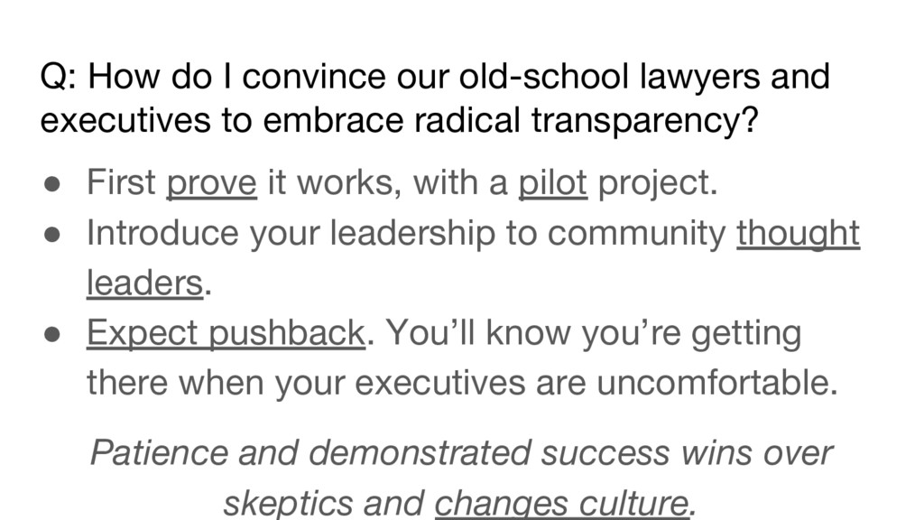 Q: How do I convince our old-school lawyers and...