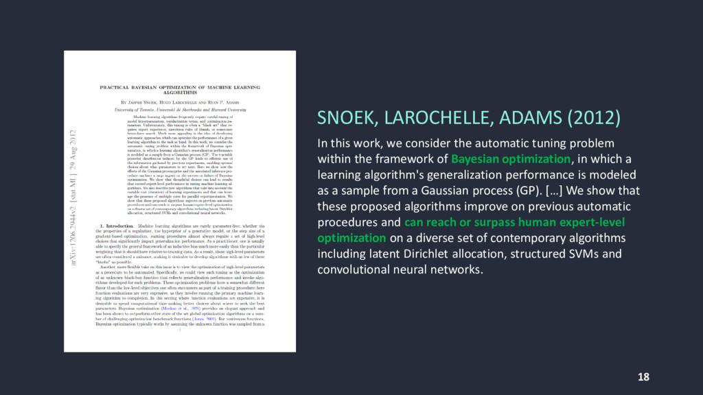 18 SNOEK, LAROCHELLE, ADAMS (2012) In this work...