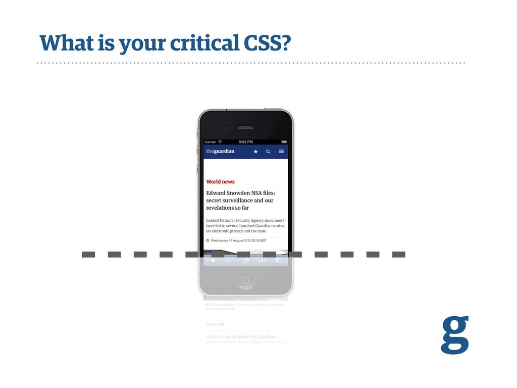 What is your critical CSS? g