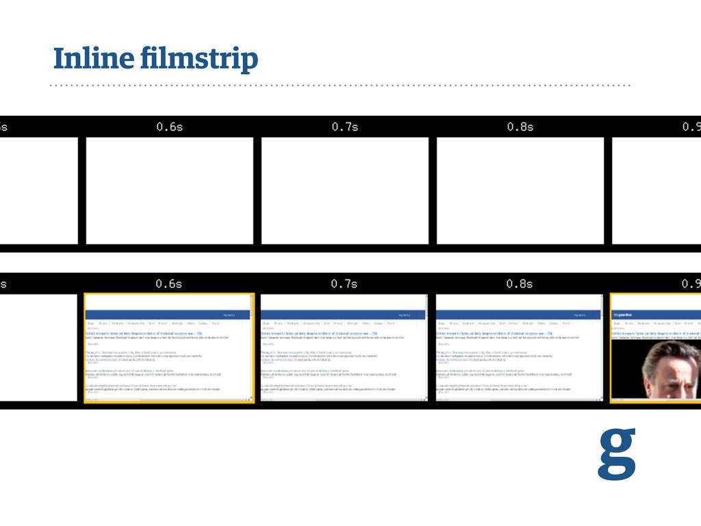 Inline filmstrip g