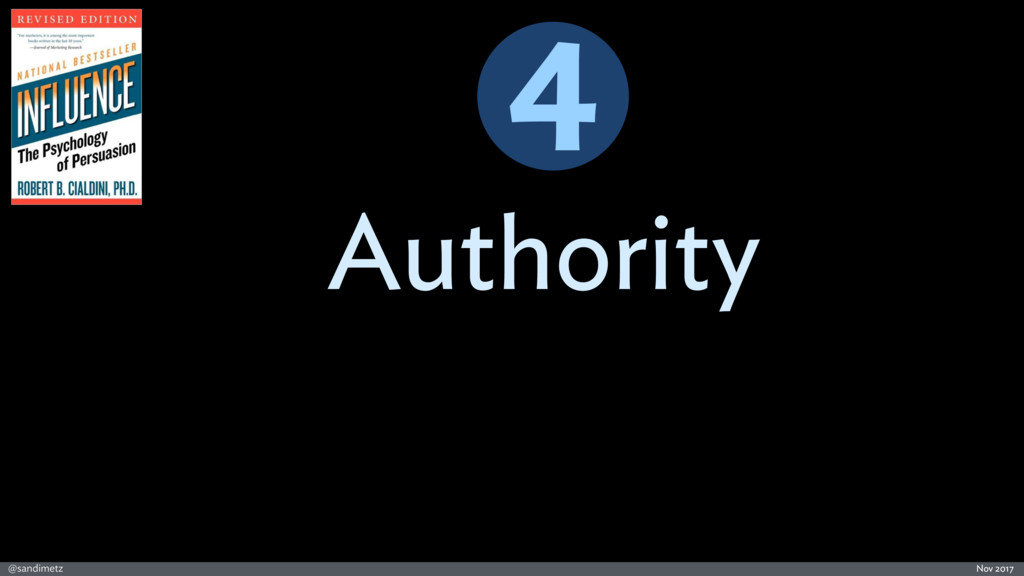 @sandimetz Nov 2017 Authority 4