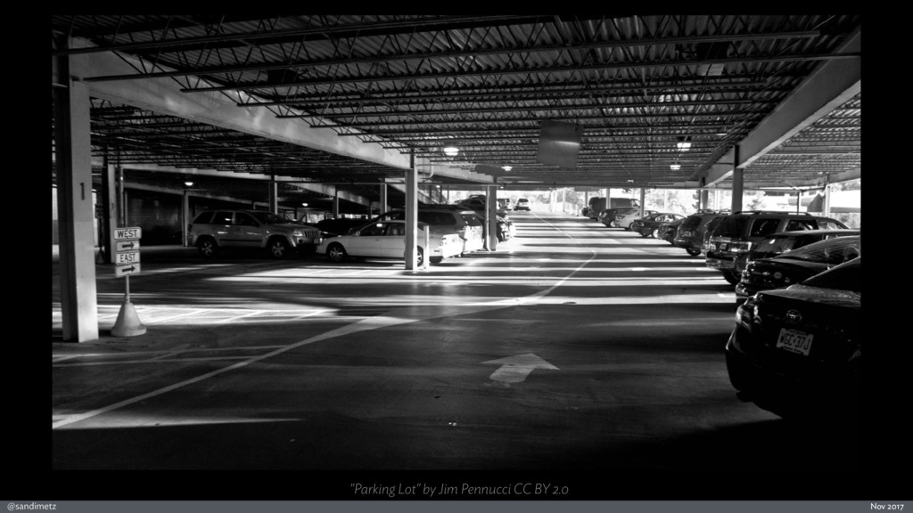 "@sandimetz Nov 2017 ""Parking Lot"" by Jim Pennuc..."