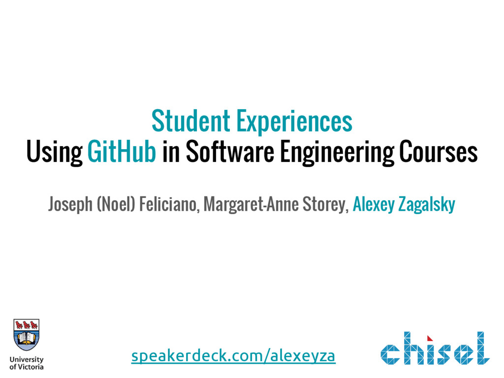 Student Experiences Using GitHub in Software En...