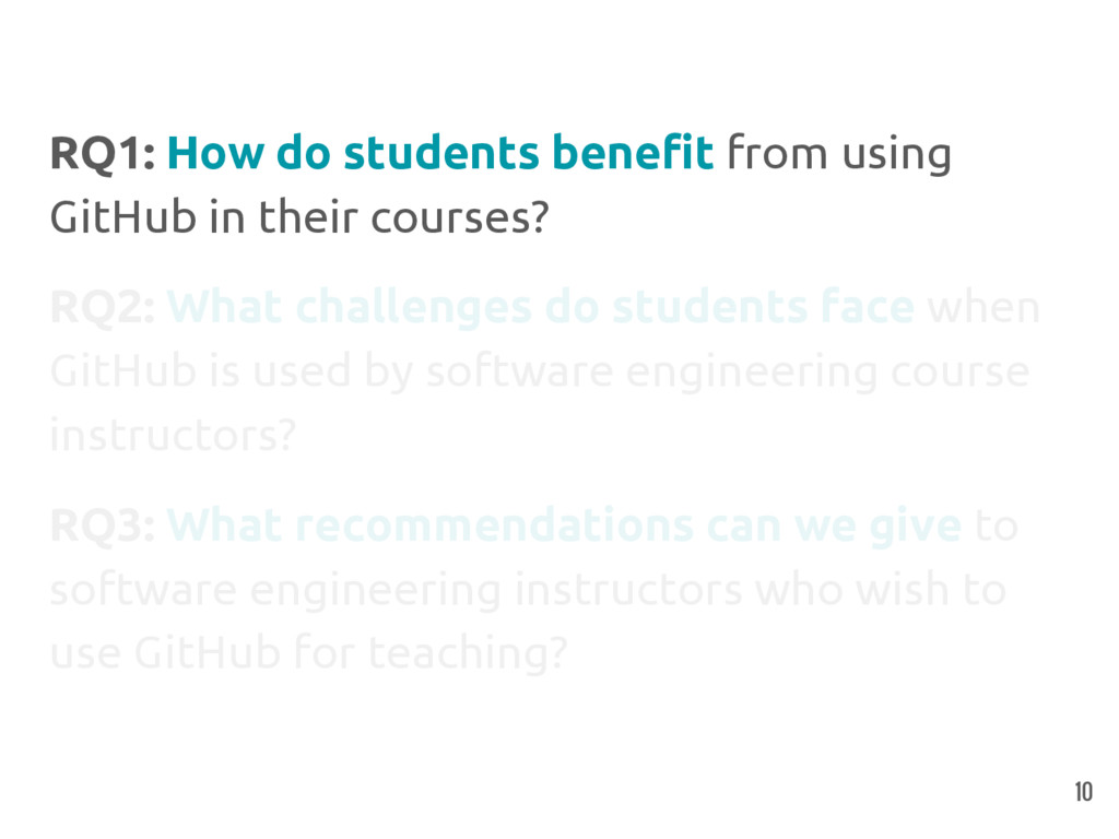 RQ1: How do students benefit from using GitHub ...