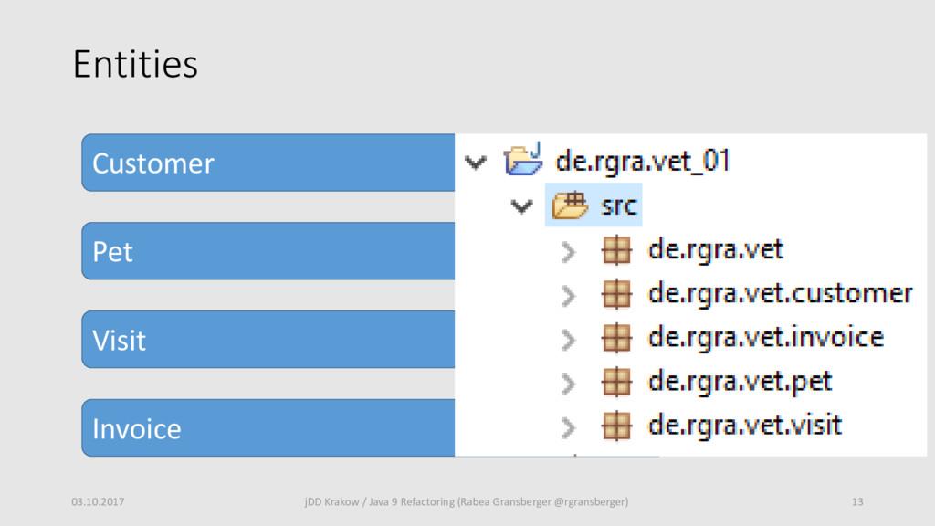 Entities 03.10.2017 13 jDD Krakow / Java 9 Refa...