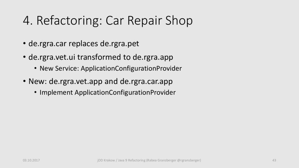 4. Refactoring: Car Repair Shop • de.rgra.car r...