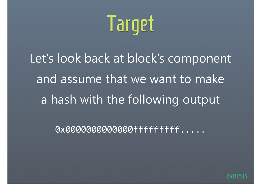 Target Let's look back at block's component and...