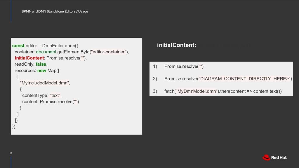BPMN and DMN Standalone Editors / Usage 13 cons...