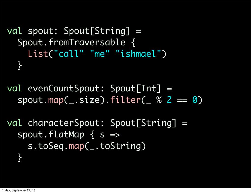 val spout: Spout[String] = Spout.fromTraversabl...