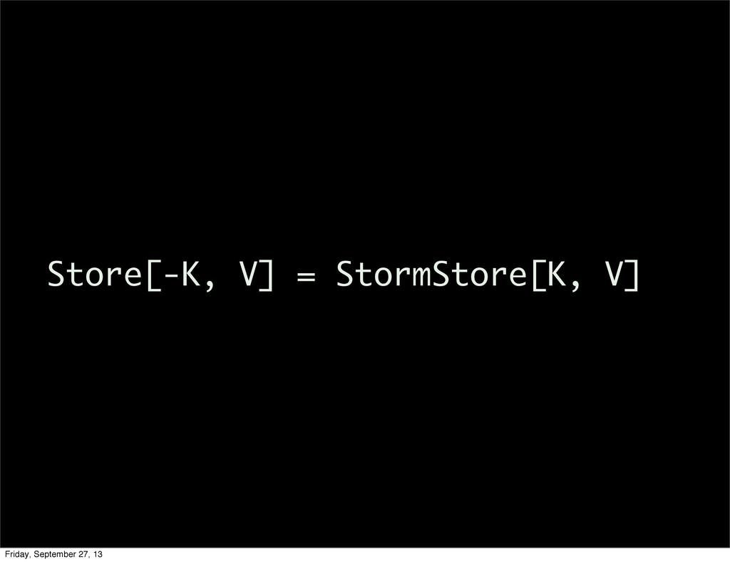 Store[-K, V] = StormStore[K, V] Friday, Septemb...
