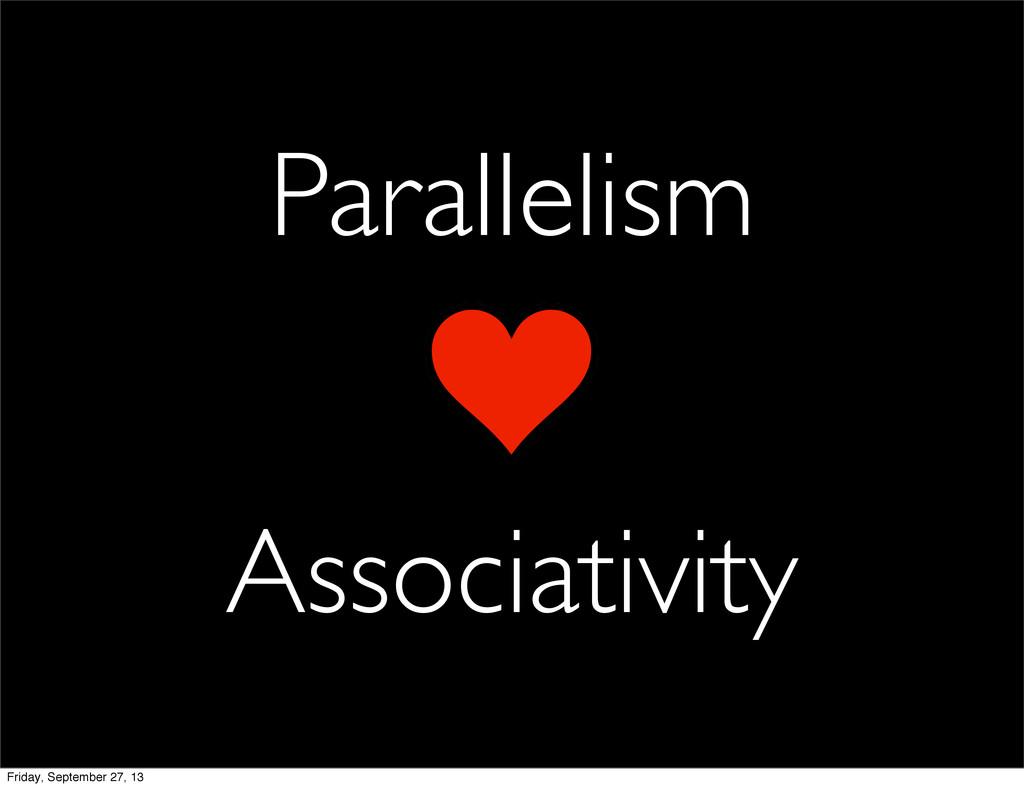 Parallelism Associativity Friday, September 27,...