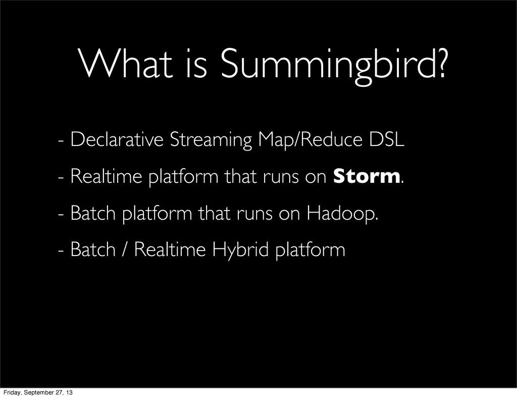 - Declarative Streaming Map/Reduce DSL - Realti...