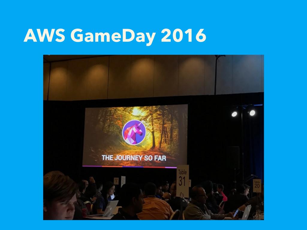 AWS GameDay 2016