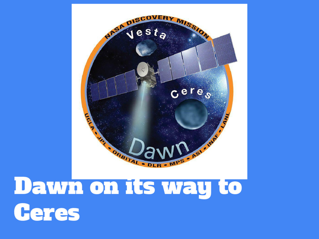 Dawn on its way to Ceres