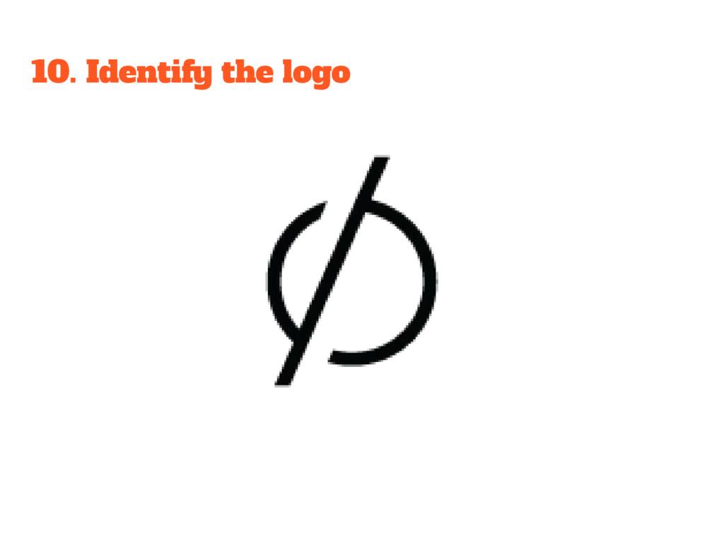10. Identify the logo