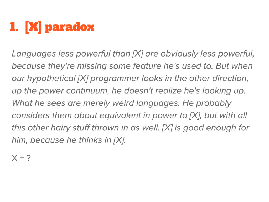 1. [X] paradox