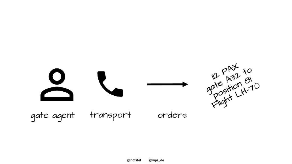 @hofstef @wps_de gate agent transport orders