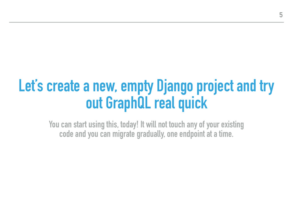 Let's create a new, empty Django project and tr...