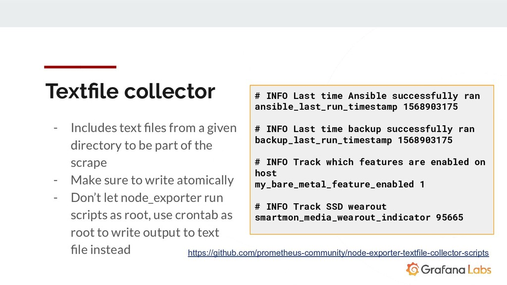 Textfile collector - Includes text files from a g...
