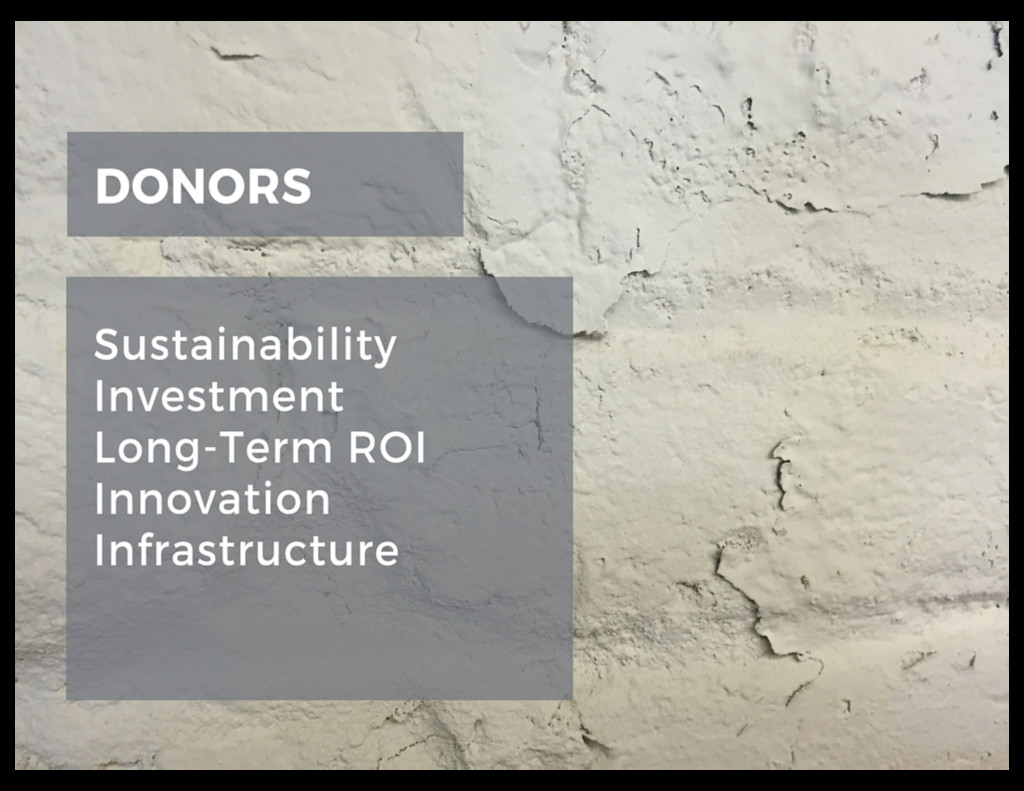 SHIFTING CONVERSATIONS WITH DONORS •Sustainabi...